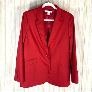 Chico's red blazer size 2 (US 12)